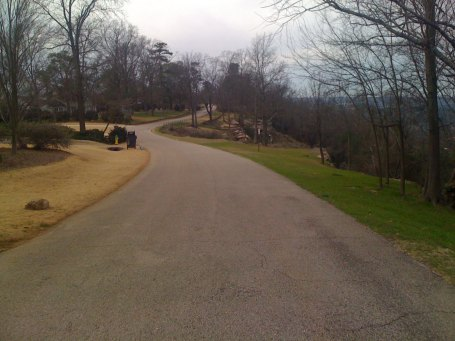 One of my favorite roads in all of Birmingham, Vestavia Dr, crests Shades Mountain at its highest point and runs along the edge overlooking the Shades Creek valley