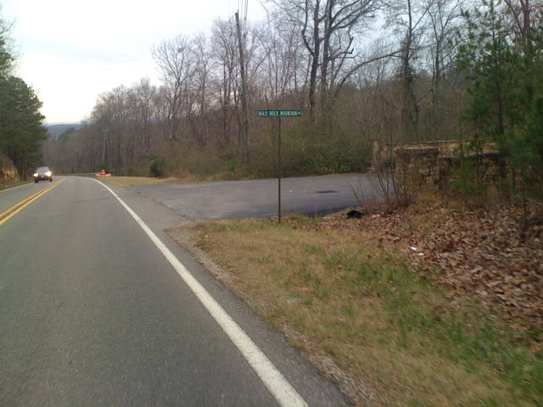 Bald Rock mountain driveway - wish I could get permission to climb this
