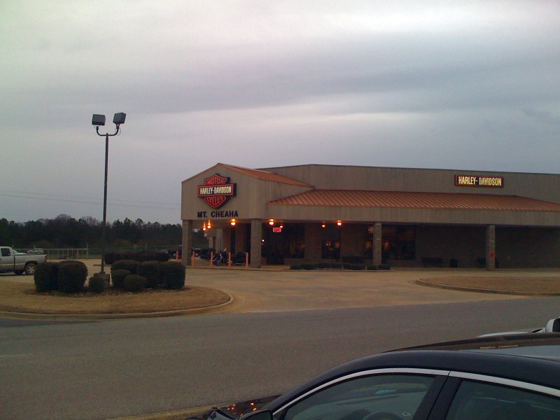 The Mt Cheaha harley davidson shop near our hotel