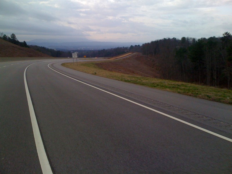 mt cheaha with the runaway truck ramp