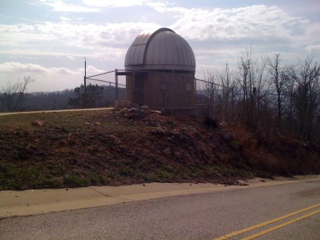 observatory at the top of the climb