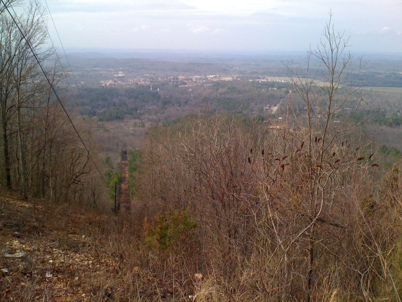 view of JSU from a little farther down the mountain