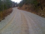 steep washboard gravel climb
