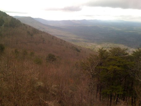 View looking along the Cheaha ridge line towards Bull Gap