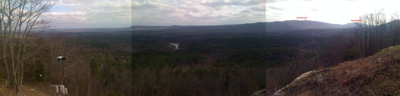 View from the eagle's nest lookout looking towards the Co Rd 43 valley