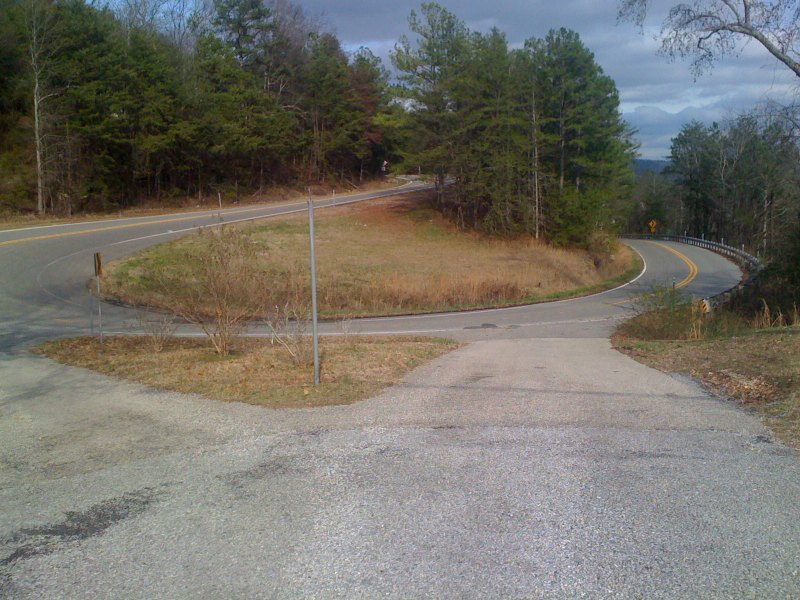 The switchback on the Vandiver climb - if I have to sprint against someone, then I like to start my sprint before the switchback