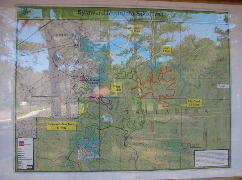 Sylaward trail map - LOTS of single track, I only rode part of the green trail