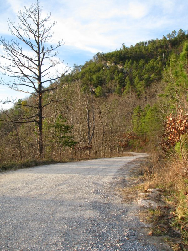 View looking down Rocky Mt Church Rd from near the intersection of AL-148 (home of the Bull Gap time trial)