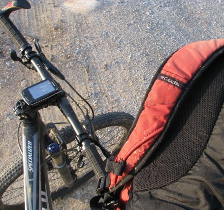 Backpack, garmin, bike
