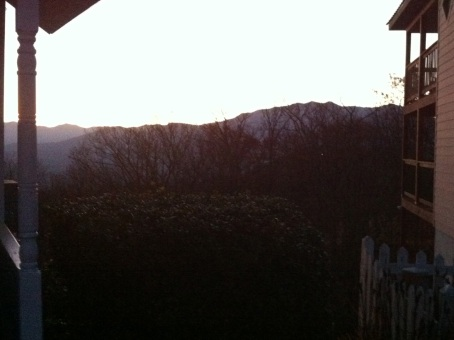 Here's a view looking more towards the summit of Mt Leconte ... not sure if that is the true summit visible