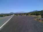 The San Francisco peaks outside of flagstaff
