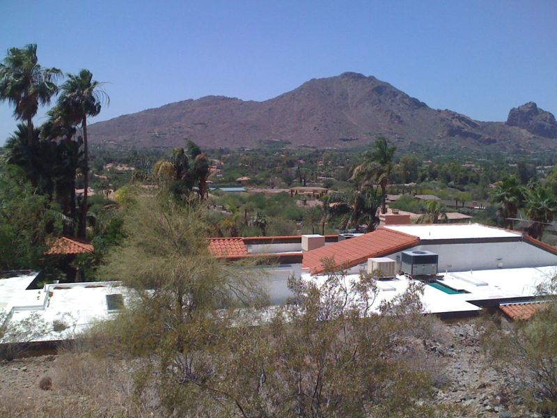 View of Camelback Mountain from Mummy Mountain