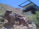 Modern desert mountain hillside house