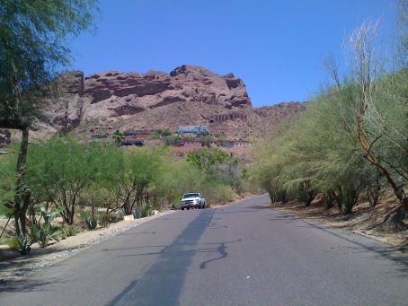 "Approaching the ""castle"" climb on Camelback Mountain"