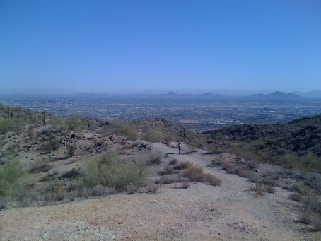 Right to left - Camelback Mountain, Mummy Mountain, Squaw Peak, North Mountain, Thunderbird, Deem Hills