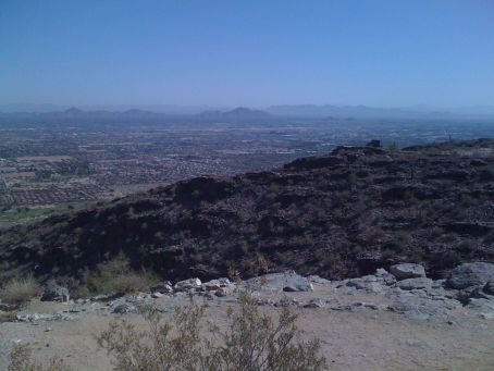 View from Dobbins Pt of downtown and all the mountains, part ii