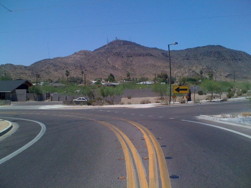 Approaching North Mountain from 7th Avenue