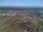 View from the top of North Mountain looking south towards Phoenix with South Mountain in the distance