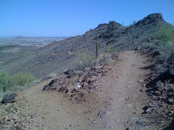 The final switchback on the way up the north climb