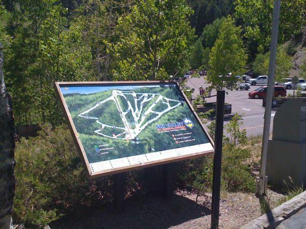 Ski Valley slope map
