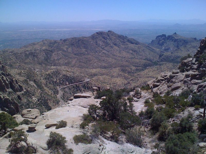 View from Windy Point looking down towards Tucson