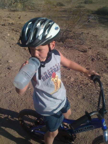 Even little guys gotta stay hydrated in the desert.