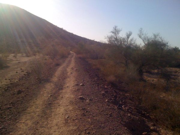 Double-track entrance to the thunderbird trails