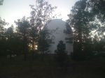 The Lowell Observatory only a couple hundred feet above Flagstaff