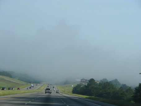 Fog coming off the Warrior River just north of Birmingham