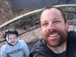 Self portrait with Josiah at Maricopa Pt (Hermit Rd)