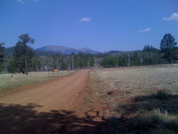 Humphries and the other San Francisco peaks just outside of Flagstaff