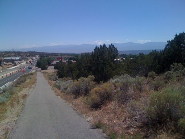 Day 17 - view of Santa Fe mountains from White Rock, NM