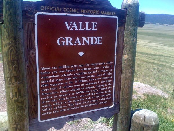 Day 17 - another valles caldera informational sign