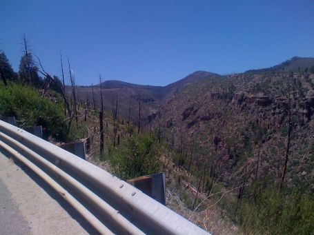 Day 17 - canyon alongside the Pajarito ski hill climb