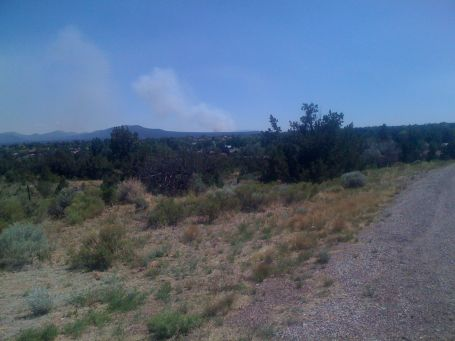 Day 17 - yet another forest fire near White Rock, NM