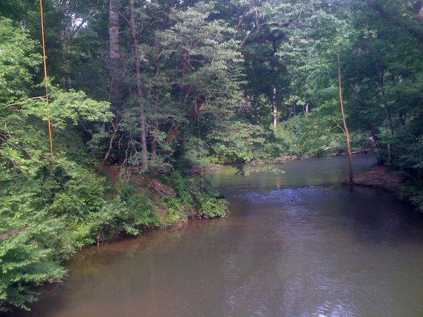 Rope swings over Little Cahaba River