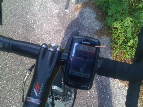 At the top of what I call the lower Double Oak Mtn ridge line ... my Garmin was reading about 30-40 feet too low.