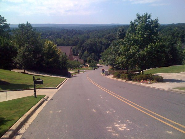 View from the middle of S Cove Dr