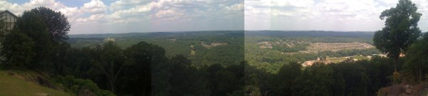Panorama view from near Lover's Leap on top of Bluff Park