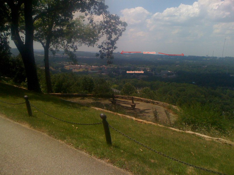 View of Samford University from Vestavia Dr