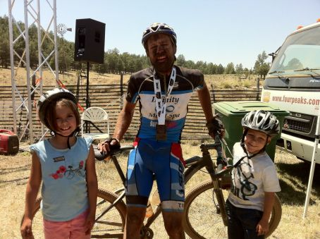 Analise, me, and Josiah after the race