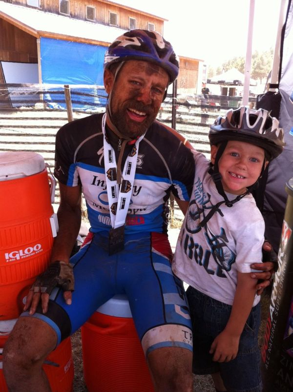 Me and Josiah immediately after the finish