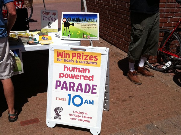 Day 14 - human powered parade