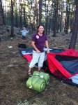 Day 15 - setting up camp high on the san francisco peaks north of flagstaff