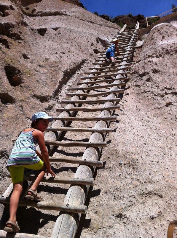 Day 17 - climbing up to the indian ruins at bandelier national monument