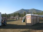 Solar panels powered the event - Kendrick Peak is in the distance. The race course circled the entire mountain.