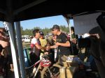 Dave Wiens (multi-year winner of the Leadville mtb race) handing out medals to some of the later finishers.