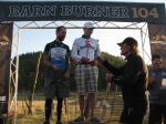 Podium for 30-39 yr old males ... 2nd place for me ... Ken Chlouber handing out Leadville entries!