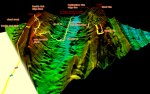 3D annotated view of double oak and the new signal mtn cat 2 climb