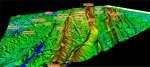3D annotated view of all the ridges between the Cahaba River and Signal Mountain (click to enlarge)